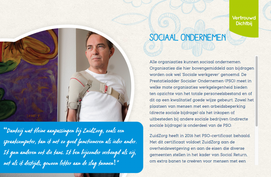 PSO in Sociaal Jaarverslag 2016 ZuidZorg