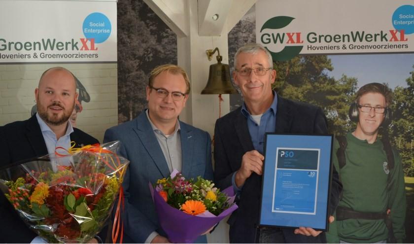 Uitreiking PSO 30+ certificaat aan GroenWerkXL